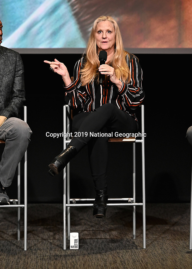 """LOS ANGELES - JUNE 5:  Lori McCreary attends an FYC event for National Geographic's """"The Story of God"""" at the TV Academy on June 5, 2019 in Los Angeles, California. (Photo by Scott Kirkland/National Geographic/PictureGroup)"""