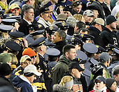 United States President Barack Obama speaks to U.S. Army Cadets as he prepares to depart the 112th meeting of the United States Army Black Knights and the U.S. Navy Midshipmen at FedEx Field in Landover, Maryland on Saturday, December 10, 2011.  Navy won the game 27 - 21..Credit: Ron Sachs / CNP
