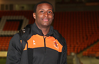 Blackpool's Donervon Daniels<br /> <br /> Photographer Rachel Holborn/CameraSport<br /> <br /> The EFL Checkatrade Trophy Group C - Blackpool v Accrington Stanley - Tuesday 13th November 2018 - Bloomfield Road - Blackpool<br />  <br /> World Copyright © 2018 CameraSport. All rights reserved. 43 Linden Ave. Countesthorpe. Leicester. England. LE8 5PG - Tel: +44 (0) 116 277 4147 - admin@camerasport.com - www.camerasport.com