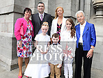 Chloe Hughes who received first holy communion in St Peters church West street pictured with her family. Photo:Colin Bell/pressphotos.ie