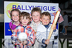 .4TH JULY: Playing baseball in the Star Spangled Sports on the first day of the Ballyuheigue Summer Festival on the green in Ballyheigue on Monday evening-r: Katelyn Leen, James Godley, Brendan Godley and Brandon Leen.....................