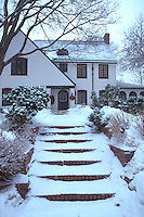 Snowy family dwelling.  St Paul Minnesota USA