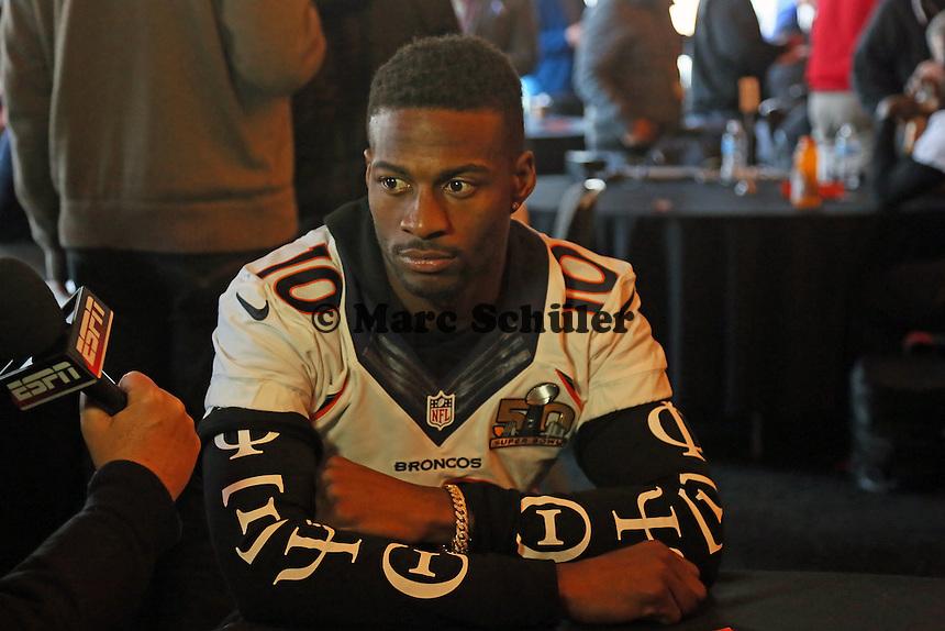 WR Emmanuel Sanders (Broncos) - Super Bowl 50 Denver Broncos PK, Marriott Santa Clara