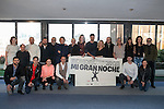 Team of the film (Director ALEX DE LA IGLESIA AND actors RAPHAEL, HUGO SILVA, PEPON NIETO, SANTIAGO SEGURA, CARMEN MACHI, CARLOS ARECES, ENRIQUE VILLEN, JAIME ORDOÑEZ, TERELE PÁVEZ, CAROLINA BANG, LUIS CALLEJO, ANA POLVOROSA, LUIS FERNANDEZ, ANTONIO VELÁZQUEZ, CARMEN RUIZ y TOMÁS POZZI) pose during `Mi gran noche´ film presentation in Madrid, Spain. February 20, 2015. (ALTERPHOTOS/Victor Blanco)