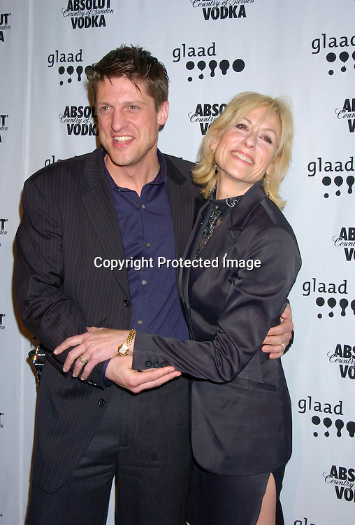 Christopher Sieber and Judith Light ..at the 15th Annual GLAAD Media Awards on April 12, 2004 ..at the Marriott Marquis Hotel. ..Photo by Robin Platzer, Twin Images