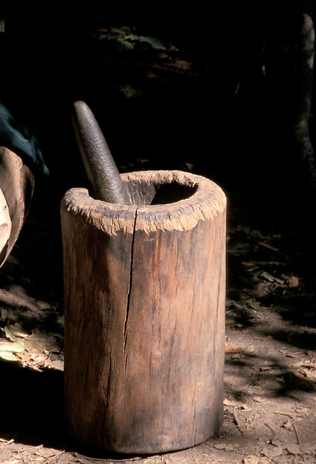 Large log mortar and pestle was used by the Wampanoag and other tribes found in the Northeast to grind dried corn into a flour