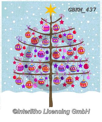 Kate, CHRISTMAS SYMBOLS, WEIHNACHTEN SYMBOLE, NAVIDAD SÍMBOLOS, paintings+++++Tree with baubles,GBKM437,#xx#