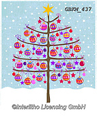 Kate, CHRISTMAS SYMBOLS, WEIHNACHTEN SYMBOLE, NAVIDAD SÍMBOLOS, paintings+++++Tree with baubles,GBKM437,#xx#