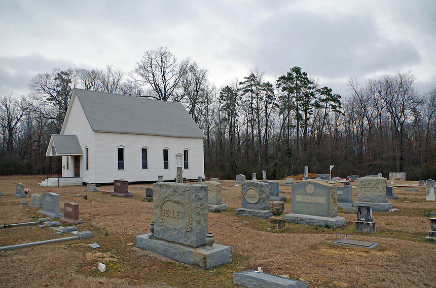 Hunter's Chapel Methodist Church and Cemetery south of Malvern, Arkansas