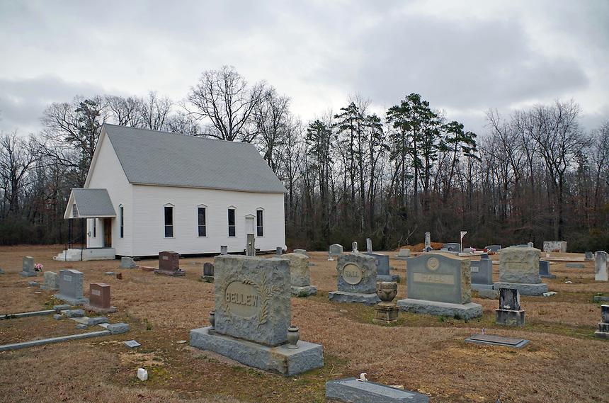 Hunter's Chapel Methodist Church and Cemetery south of Malvern, Arkansas