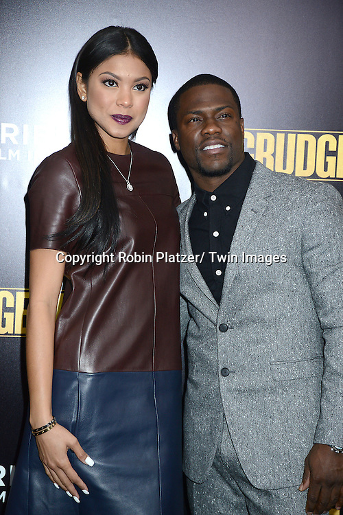 "Kevin Hart and Eniko Parish  attends the World Premiere of ""Grudge Match"" at the Ziegfeld Theatre in New Yok City on December 16, 2013."
