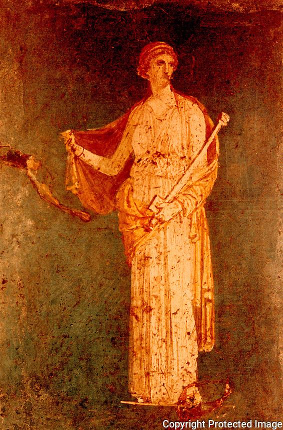 Roman Art:  Medea, fresco.  National Museum, Naples.