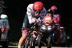 Slovenian Champion Tadej Pogacar (SLO) UAE Team Emirates in action during Stage 10 of La Vuelta 2019 an individual time trial running 36.2km from Jurancon to Pau, France. 3rd September 2019.<br /> Picture: Colin Flockton | Cyclefile<br /> <br /> All photos usage must carry mandatory copyright credit (© Cyclefile | Colin Flockton)