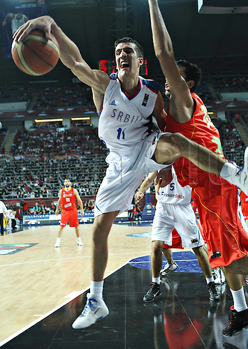 08.09.2010 Serbia's Marko Keselj during The Quarter Finals Match against Spain in The 2010 FIBA Basketball World Championship in Istanbul, Turkey. Serbia qualified for The Semi-Finals after defeating Spain 92-89.