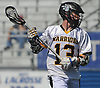Thomas vonBargen #13 of Wantagh carries downfield during the Nassau County varsity boys lacrosse Class C semifinals against Bethpage at Shuart Stadium, located on the campus Hofstra University in Hempstead, on Friday, May 25, 2018. He scored four goals in the second half to lead Wantagh to a 12-8 win.