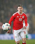 Simon Church of Wales during the international friendly match at the Cardiff City Stadium. Photo credit should read: Philip Oldham/Sportimage