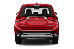 Straight rear view of a 2019 Mitsubishi Outlander SEL 5 Door SUV stock images