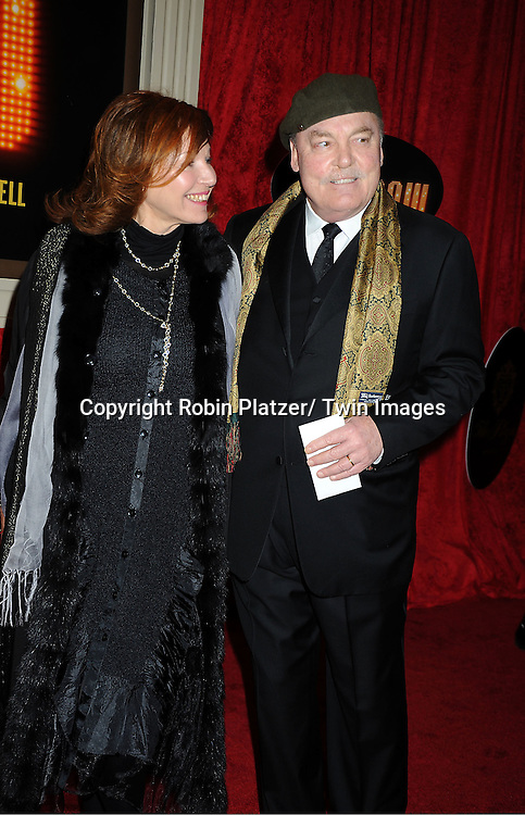 """Stacey Keach and wife arrive at the """"End Of The Rainbow"""" Broadway opening night at The Belasco Theatre in New York City on April 2, 2012. The show stars Tracie Bennett, Tom Pelphrey, Michael Cumptsy and Jay Russell."""