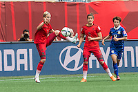 WINNIPEG, MANITOBA, CANADA - June 15, 2015: The Woman's World Cup Thailand vs Germany match at the Winnipeg Stadium . Final score, Thailand 0, Germany 4.