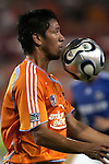 10 November 2007:  Brian Ching of the Houston Dynamo.  The MLS Houston Dynamo defeated the Kansas City Wizards 2-0 at Robertson Stadium, Houston, Texas to capture the 2007 MLS Western Conference title and to advance to the MLS Cup championship final on Saturday, November 18th.