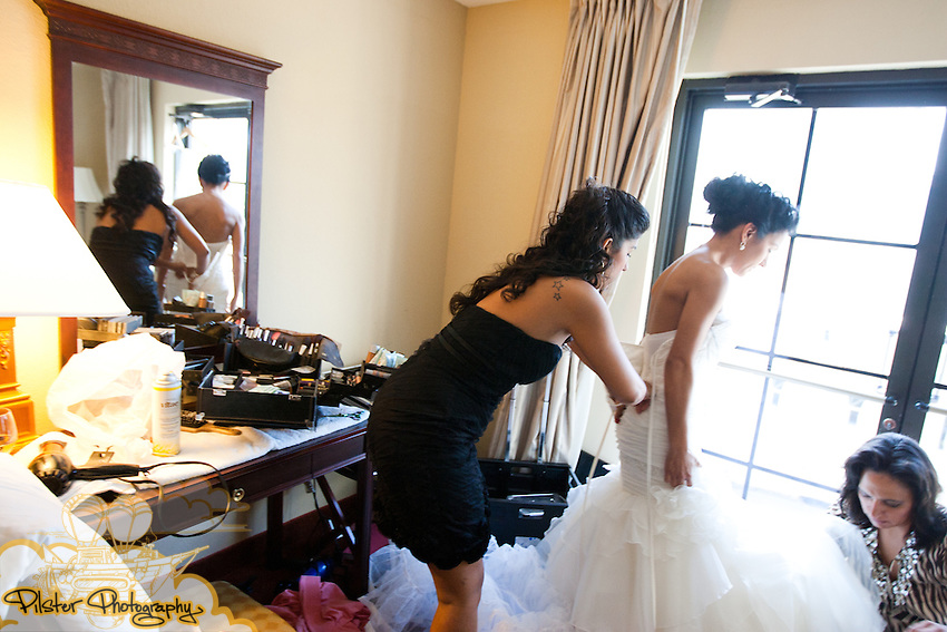 Fernanda Mori and Derrick Smith during their wedding on Saturday, June 4, 2011, at Ceviche in Orlando, Florida. They started at Embassy Suites. (Chad Pilster for Pilster Photography http://www.PilsterPhotography.net)