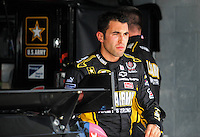 Nov. 14, 2008; Homestead, FL, USA; NASCAR Sprint Cup Series driver Aric Almirola during practice for the Ford 400 at Homestead Miami Speedway. Mandatory Credit: Mark J. Rebilas-