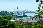 Tourist cruise ships and cargo tankers are all part of the action in Limon's busy port.