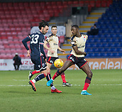 2nd December 2017, Global Energy Stadium, Dingwall, Scotland; Scottish Premiership football, Ross County versus Dundee; Dundee's Glen Kamara battles for the ball with Ross County's Chris Eagles