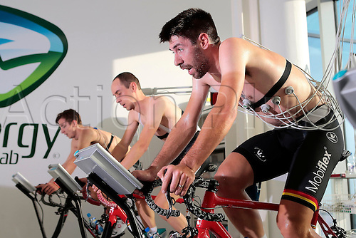 08.12.2016. Gent, Belgium. DE GENDT Thomas (BEL) Rider of LOTTO SOUDAL pictured during the medical and physical tests of the Lotto Soudal cycling team at Energy Lab at the Ghelamco Arena in Gent, Belgium,