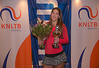 Hilversum, Netherlands, December 4, 2016, Winter Youth Circuit Masters, Winner girls 16 years, Kim Hansen<br /> Photo: Tennisimages/Henk Koster