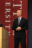 May 23, 2017- Jeff Musser, the President and CEO of Expeditors, speaks in Pigott Auditorium for Albers Executive Speaker series.
