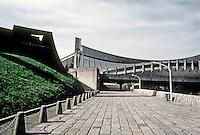 Tokyo: Olympic Halls. Kenzo Tange, architect. Photo '81.