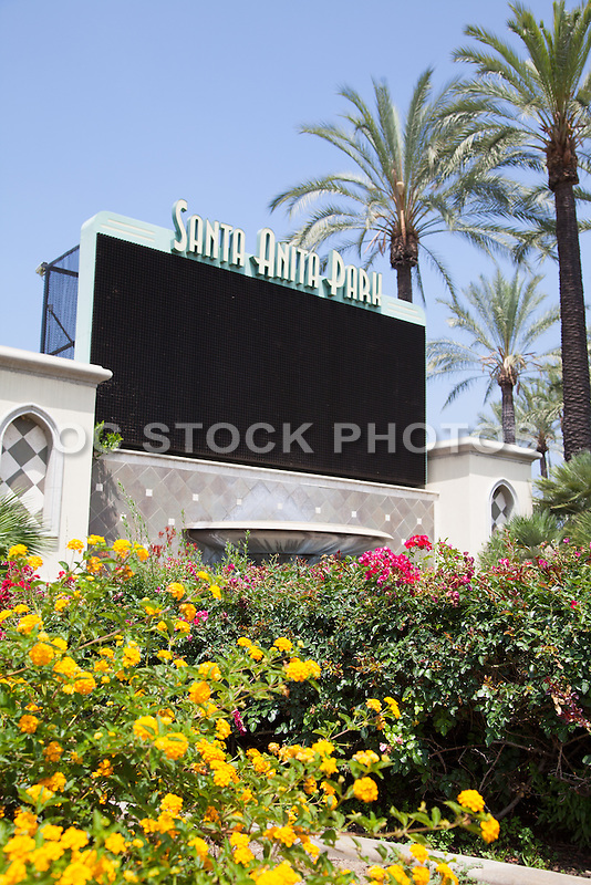 Santa Anita Thoroughbred Racetrack in Arcadia California