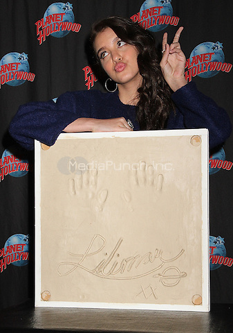 NEW YORK, NY - JUNE 9: Lilimar Hernandez promotes her starring role as 'Sophie' in the Nickelodeon television series 'Bella and the Bulldogs' with a memorabilia donation and autograph signing at Planet Hollywood in New York, New York on June 9, 2016.  Photo Credit: Rainmaker Photo/MediaPunch