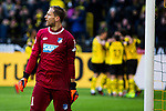 09.02.2019, Signal Iduna Park, Dortmund, GER, 1.FBL, Borussia Dortmund vs TSG 1899 Hoffenheim, DFL REGULATIONS PROHIBIT ANY USE OF PHOTOGRAPHS AS IMAGE SEQUENCES AND/OR QUASI-VIDEO<br /> <br /> im Bild | picture shows:<br /> Oliver Baumann (Hoffenheim #1) ist enttäuscht / wütend nach dem zweiten Gegentor,  <br /> <br /> Foto © nordphoto / Rauch