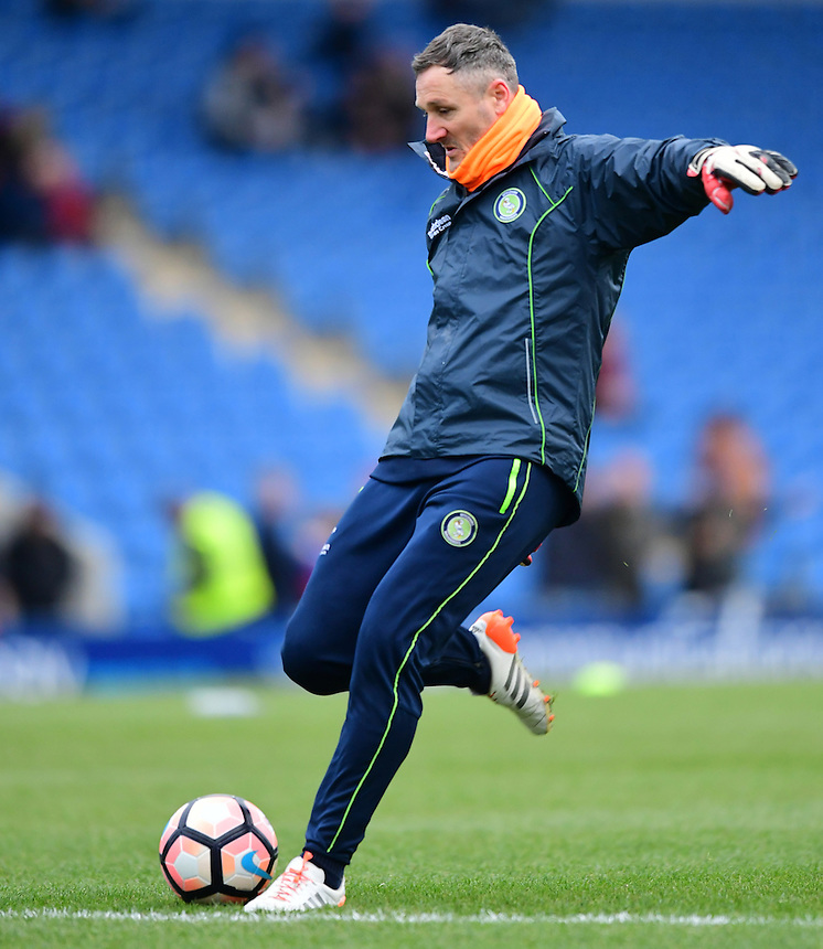 Wycombe Wanderers first team coach Barry Richardson during the pre-match warm-up <br /> <br /> Photographer Chris Vaughan/CameraSport<br /> <br /> The Emirates FA Cup Second Round - Chesterfield v Wycombe Wanderers - Saturday 3rd December 2016 - Proact Stadium - Chesterfield<br />  <br /> World Copyright &copy; 2016 CameraSport. All rights reserved. 43 Linden Ave. Countesthorpe. Leicester. England. LE8 5PG - Tel: +44 (0) 116 277 4147 - admin@camerasport.com - www.camerasport.com