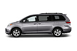 Car driver side profile view of a 2017 Toyota Sienna LE 5 Door Mini Van