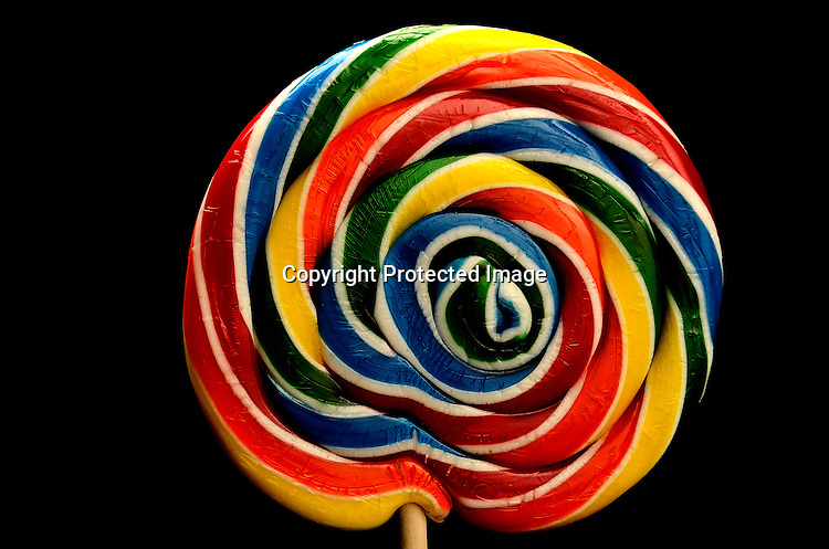 Stock photo of colorful swirl lollipop