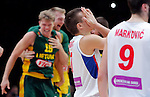 Serbia's  Bogdan Bogdanovic reacts after European championship semi-final basketball match between Serbia and Lithuania on September 18, 2015 in Lille, France  (credit image & photo: Pedja Milosavljevic / STARSPORT)