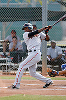 Francisco Peguero - San Francisco Giants 2009 Instructional League .Photo by:  Bill Mitchell/Four Seam Images..