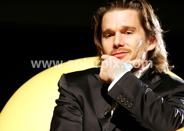 **ALL ROUND PICTURES FROM SOLARPIX.COM**.**SYNDICATION RIGHTS FOR UK, SPAIN, POTUGAL, AUSTRALIA, S.AFRICA & DUBAI (U.A.E) ONLY**.Ethan Hawke - The Hottest State Photocall and On Stage Discussion - Auditorium Parco della Musica - Rome, Italy..JOB REF:  3547   PHZ    DATE: 19.03.07.**MUST CREDIT SOLARPIX.COM OR DOUBLE FEE WILL BE CHARGED* *UNDER NO CIRCUMSTANCES IS THIS IMAGE TO BE REPRODUCED FOR ANY ONLINE EDITION WITHOUT PRIOR PERMISSION*