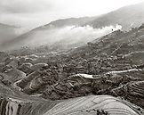 CHINA, Longsheng, elevated view of the Dragon Backbone Rice Terraces