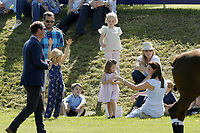 Polo at Badminton<br /> Catherine Duchess of Cambridge, Princess Charlotte, Prince George<br /> at The Beaufort Polo Club, Tilbury, Gloucestershire, England on June 10, 2018.<br /> CAP/GOL<br /> &copy;GOL/Capital Pictures