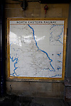 Old map of North Eastern railway routes, Scarborough, Yorkshire, England