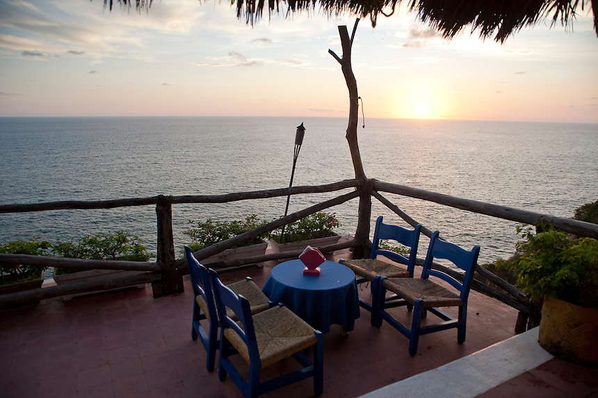 Sunset from Flamingo's hotel, Acapulco, Guerrero, Mexico