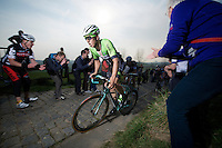 Sep Vanmarcke (BEL/Belkin) up the Paterberg (max 20%)<br /> <br /> 57th E3 Harelbeke 2014