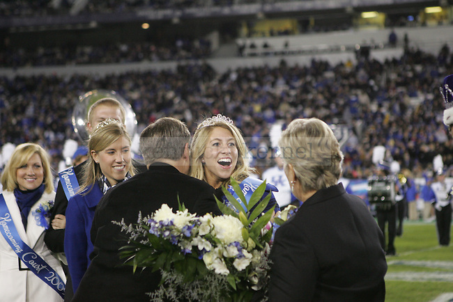 Special education senior Barb Jackson was voted the 2009 Homecoming Queen during halftime at Commonwealth Stadium Saturday night..Photo by Zach Brake | Staff