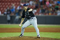 North Division pitcher Bryan Brickhouse (28) of the Wilmington Blue Rocks in action during the 2018 Carolina League All-Star Classic at Five County Stadium on June 19, 2018 in Zebulon, North Carolina. The South All-Stars defeated the North All-Stars 7-6.  (Brian Westerholt/Four Seam Images)