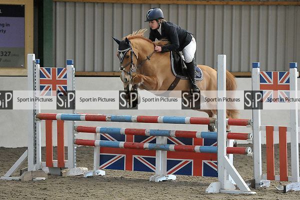 Class 4. Newcomers. British showjumping juniors. Brook Farm Training Centre. Stapleford Abbotts. UK. 07/01/2018. ~ MANDATORY CREDIT Garry Bowden/Sport in Pictures - NO UNAUTHORISED USE - +44 7837 394578