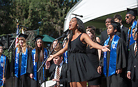 Glee Club performs. Commencement for the Occidental College class of 2013, Sunday, May 19, 2013, Los Angeles, Calif. (Photo by Marc Campos, Occidental College Photographer)